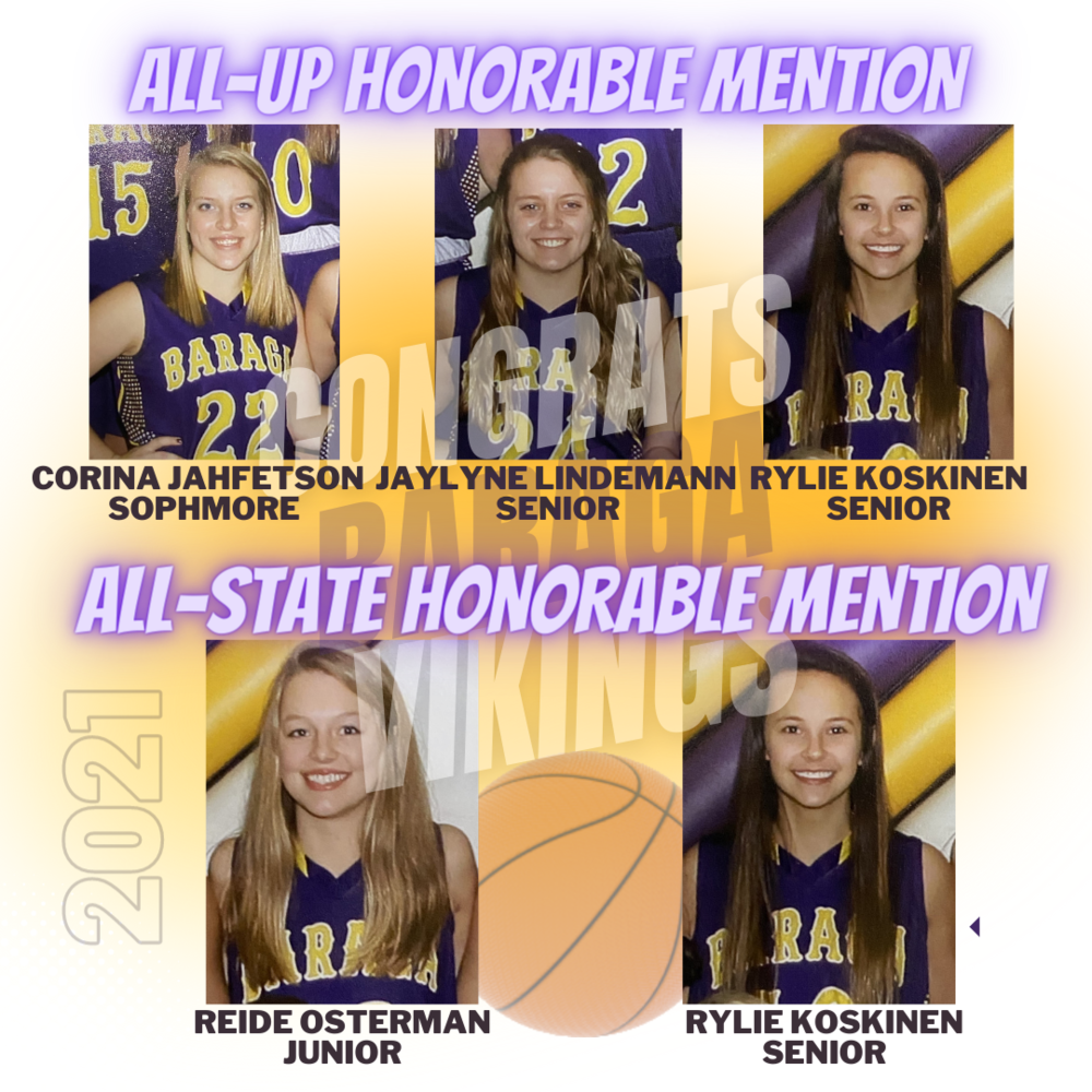 ALL UP  & ALL STATE HONORABLE MENTIONS
