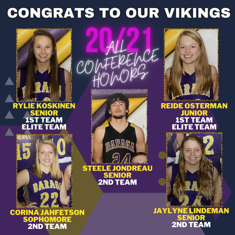 Many Basketball Honors for Vikings