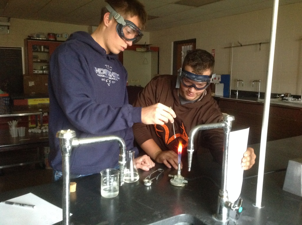 Chemistry flame tests