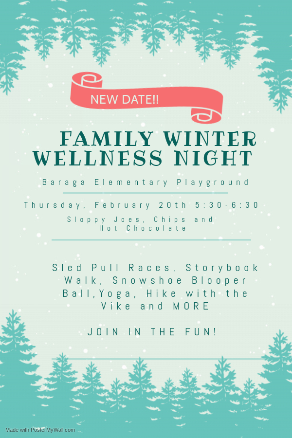 Winter Wellness Date Change!