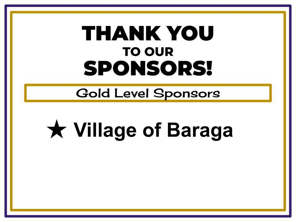 Gold Level Sponsor - Village of Baraga