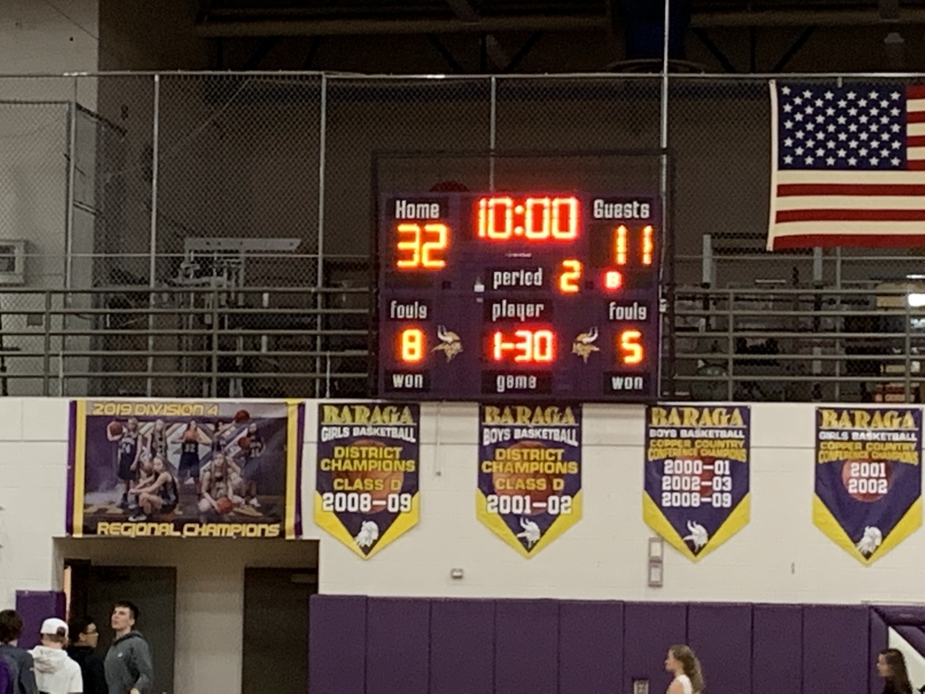 Girls up by 21 at the break