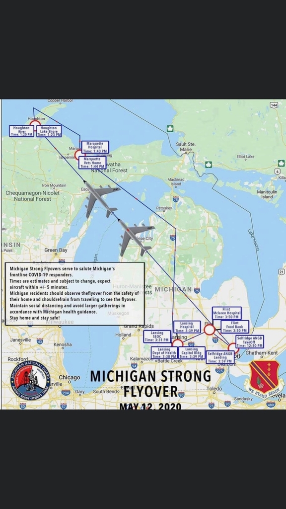 Michigan Strong Flyover